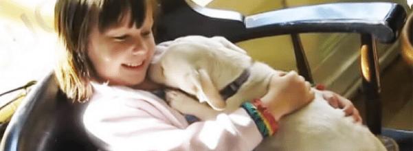 Girl adopts dog