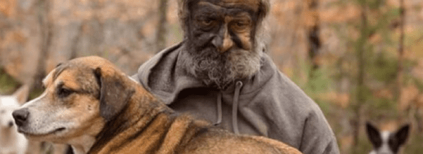 Man lived in woods with 31 dogs